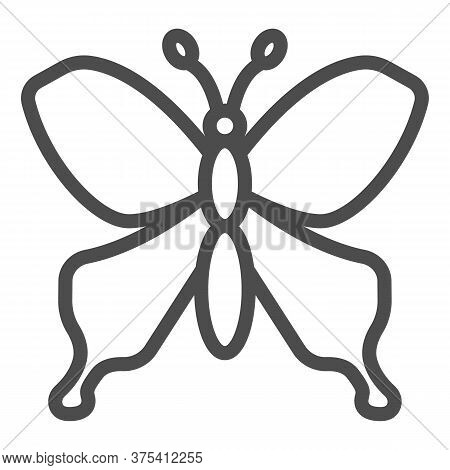 Butterfly Line Icon, Insects Concept, Beautiful Flying Insect Sign On White Background, Butterfly Si