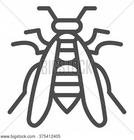 Bee Line Icon, Insects Concept, Wasp Sign On White Background, Honeybee Icon In Outline Style For Mo