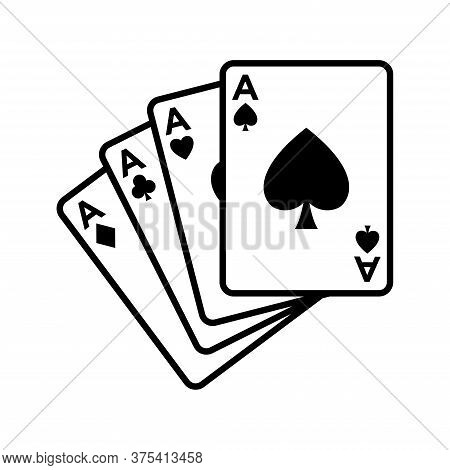 Poker Card - Gambling -bridge Icon Vector Design Template