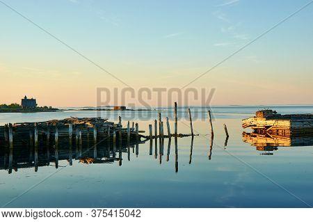Fishing Boats , Russia, Karelia, White Sea, Near Kem