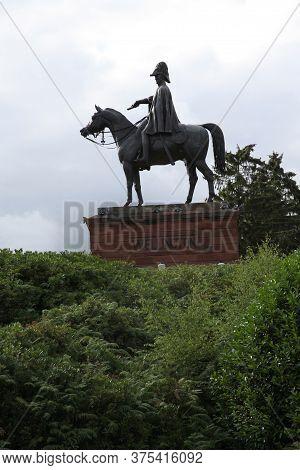 An Equestrian Statue Of The Duke Of Wellington Found In Aldershot, Hampshire, Uk, Taken July 17th 20