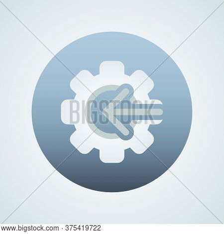 Arrow Gear Icon  Vector Illustration In Trendy Flat Style Isolated On Grey Background. Arrow Symbol