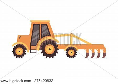 Agriculture And Food Manufacturing Machinery Flat Vector Illustration Isolated.