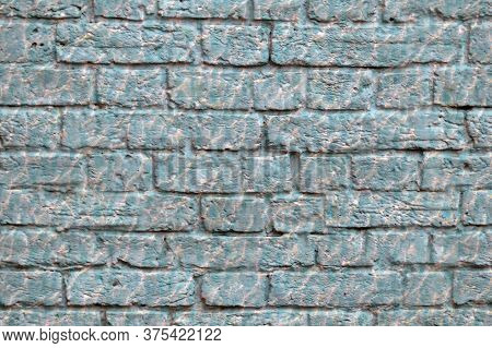 Brick Wall Building Close-up. Background. Blank For Designers