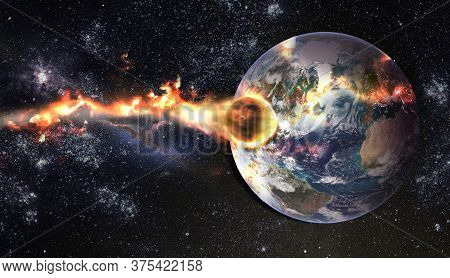 Comet, Asteroid, Meteorite Glows, Attacks, Enters Falls Attacks The Earth's Atmosphere. End Of The W