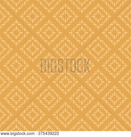 Retro Geometric Ornamental Seamless Pattern. Vector Abstract Texture With Rhombuses, Squares, Triang