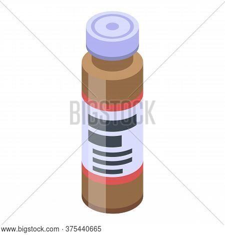 Medical Syringe Jar Icon. Isometric Of Medical Syringe Jar Vector Icon For Web Design Isolated On Wh