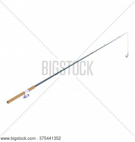 Classic Fishing Rod Icon. Isometric Of Classic Fishing Rod Vector Icon For Web Design Isolated On Wh