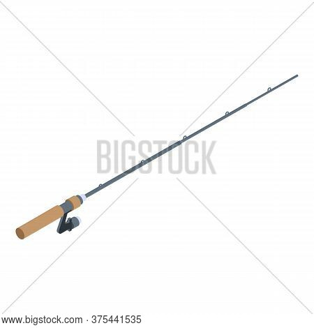 Fishing Rod Equipment Icon. Isometric Of Fishing Rod Equipment Vector Icon For Web Design Isolated O