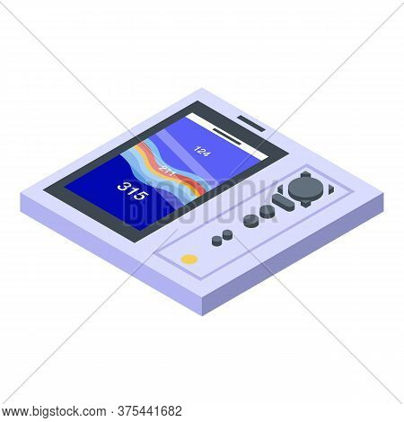 Modern Echo Sounder Icon. Isometric Of Modern Echo Sounder Vector Icon For Web Design Isolated On Wh