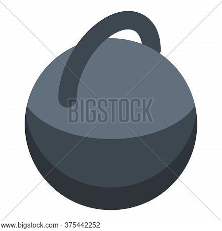 Kettlebell Icon. Isometric Of Kettlebell Vector Icon For Web Design Isolated On White Background