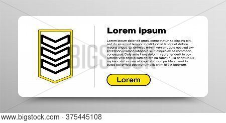 Line Military Rank Icon Isolated On White Background. Military Badge Sign. Colorful Outline Concept.