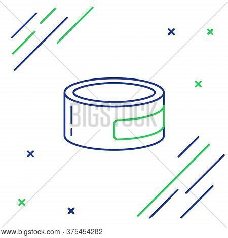 Line Canned Food Icon Isolated On White Background. Food For Animals. Pet Food Can. Colorful Outline
