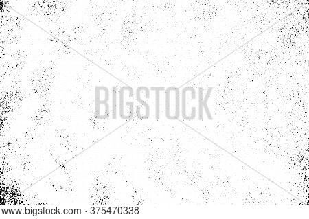 Tiny Sandy Texture, Black And White Vector Abstraction. Beach Sand Grungy Surface With Sand Particle