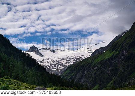 Habachtal Salzburger Land, Beautiful Valley And Travel Destination At Hohe Tauern Range In Austria