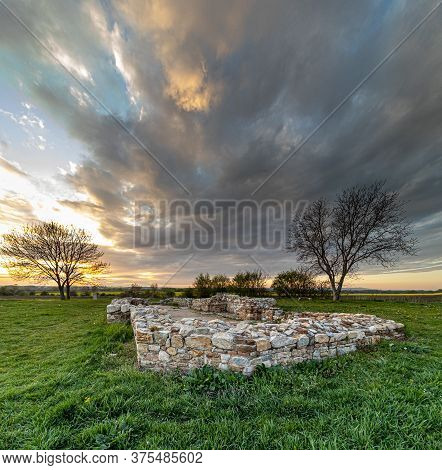Ruins Of The Second Oldest Church In Central Europe In Slovakia Near The City Of Nitra, Romanesque,