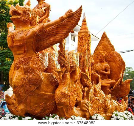 Thai art form of wax