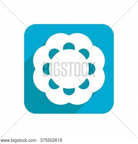 Flower. Flat Icon, Object Isolated On White Background. Illustration For Design, Logo.