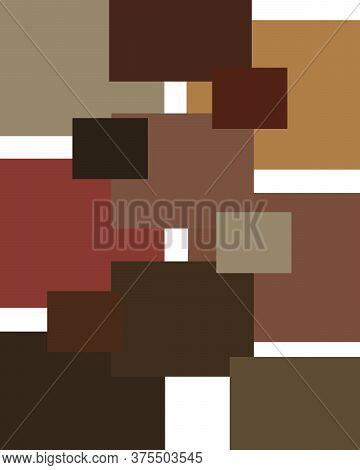 An Illustration Of Abstract Shapes In Colors Inspired By Rembrandt Paintings.