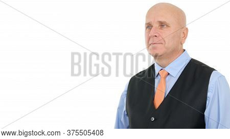 Corporate Businessman Presentation In A Company Interview, Businessperson Image Wearing Shirt Tie, A