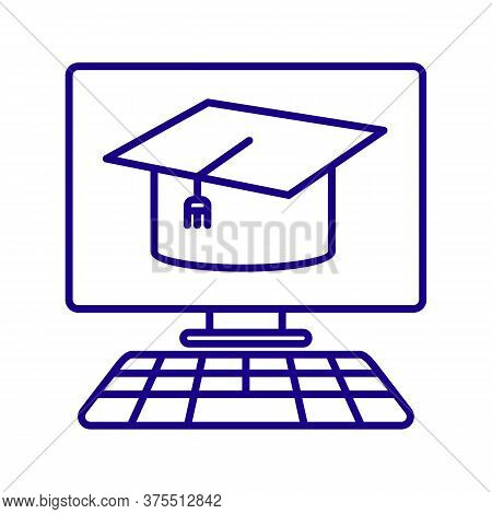 Online Education Icon From Education Collection. Simple Line Online Education Icon For Templates, We