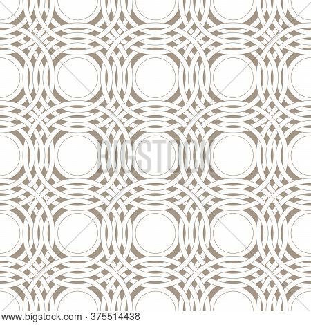 Abstract Intersecting Rings Seamless Pattern. Pattern For Home Textiles And Clothes.