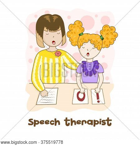 Speech Therapy Concept. Friendly Speech And Articulation Classes