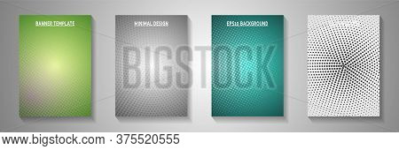 Simple Dot Screen Tone Gradation Title Page Templates Vector Series. Digital Banner Faded Screen Ton