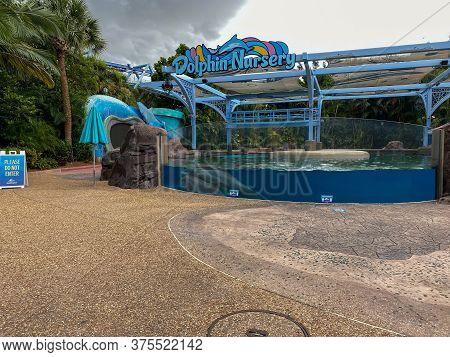 Orlando, Fl/usa-7/3/20: The Dolphin Nursery  At Seaworld In Orlando, Florida.