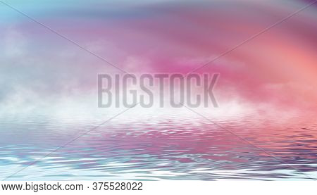 Multi-colored Gradient. Smooth Rainbow Waves. Abstract Multicolor Modern Background. 3d Illustration