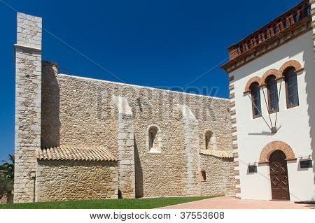 Old Church In The Village Sant Marti Costa Brava Spain