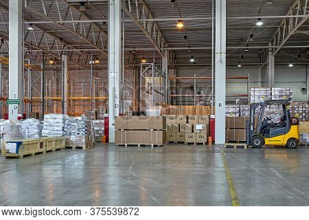 St. Petersburg, Russia - July 27, 2017: The Bonded Warehousing Of General Type Is A Public Customs W