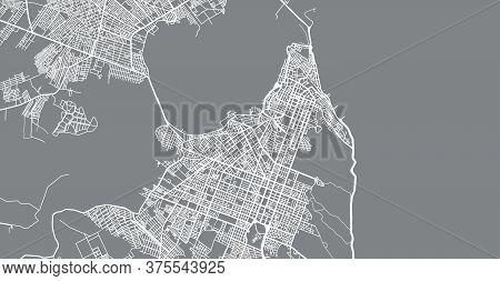 Urban Vector City Map Of Natal, Brazil