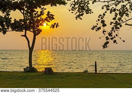 Sunset Evening At Koh Chang Thailand.\nkoh Chang Is Located In The Eastern Gulf Of Thailand. It Is A