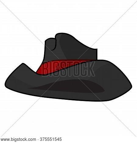 Black Hat Isolated Illustration On White Background