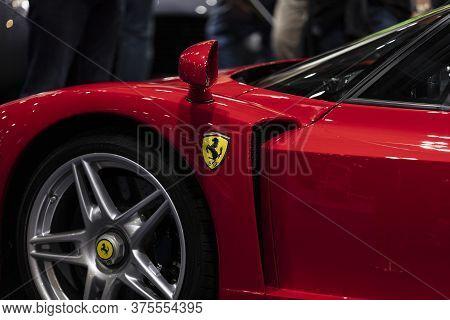 London, Uk - Feb 18 2018: A Ferrari Sports Car At The Classic Car Show In London