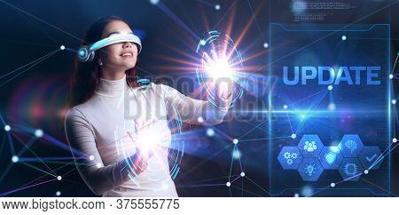 Business, Technology, Internet And Network Concept. Update Software Computer Program Upgrade.