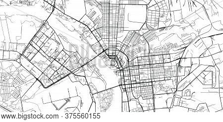Urban Vector City Map Of Omsk, Russia