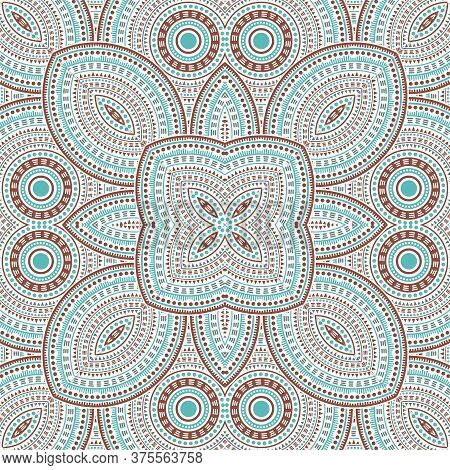 Flat Victorian Majolica Tile Seamless Pattern. Ethnic Structure Vector Patchwork. Ceramics Print Des