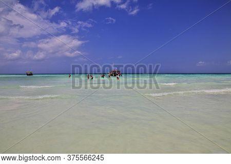 Nungwi, Zanzibar / Tanzania - 01 Jan 2017: Nungwi Beach On Zanzibar, Tanzania