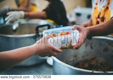 Sharing Food With Homeless : Free Food For The Poor And Food Distribution