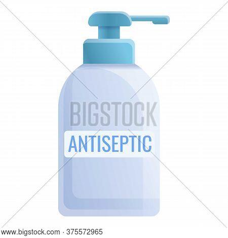 Plastic Antiseptic Bottle Icon. Cartoon Of Plastic Antiseptic Bottle Vector Icon For Web Design Isol