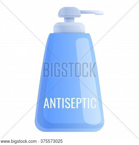 Antiseptic Blue Bottle Icon. Cartoon Of Antiseptic Blue Bottle Vector Icon For Web Design Isolated O