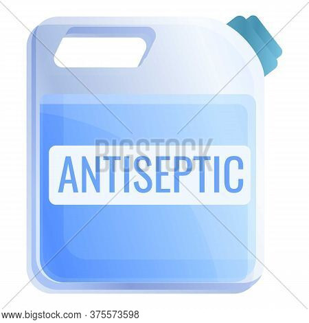 Antiseptic Plastic Canister Icon. Cartoon Of Antiseptic Plastic Canister Vector Icon For Web Design