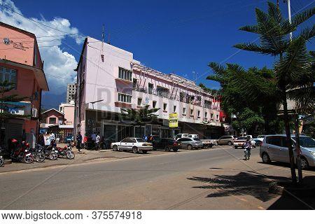 Arusha / Tanzania - 03 Jan 2017: The Street In Arusha City, Tanzania