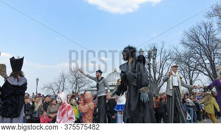 Odessa, Ukraine - 04 01 2019: Procession Of The Costume Parade On The Occasion Of Laughter Day - Tal
