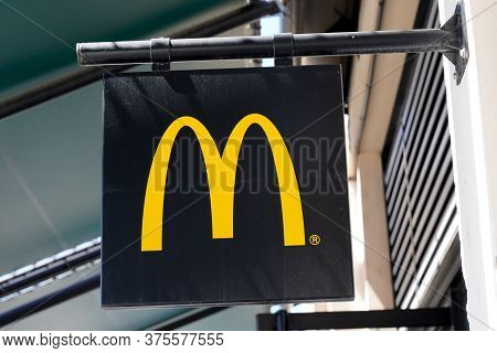 Bordeaux , Aquitaine / France - 07 07 2020 : Mac Donald M Yellow Logo Sign Of Brand Of Fastfood Amer