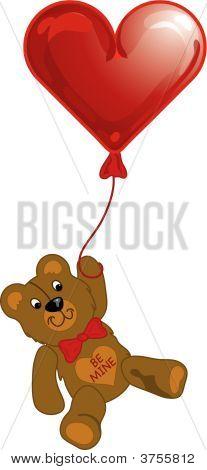 Teddy Bear And Balloon