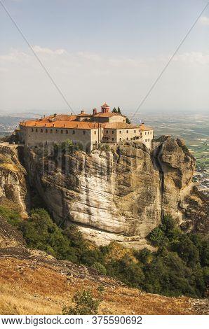 Women's Orthodox Monastery Of St. Stephen. Meteora Monastery In Greece.