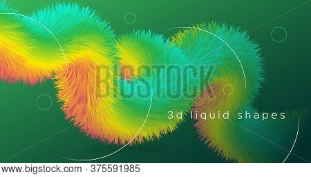 Colorful Fluid Background. Neon Vibrant Movement. Gradient Pattern. Color Bright Fluid Background. F